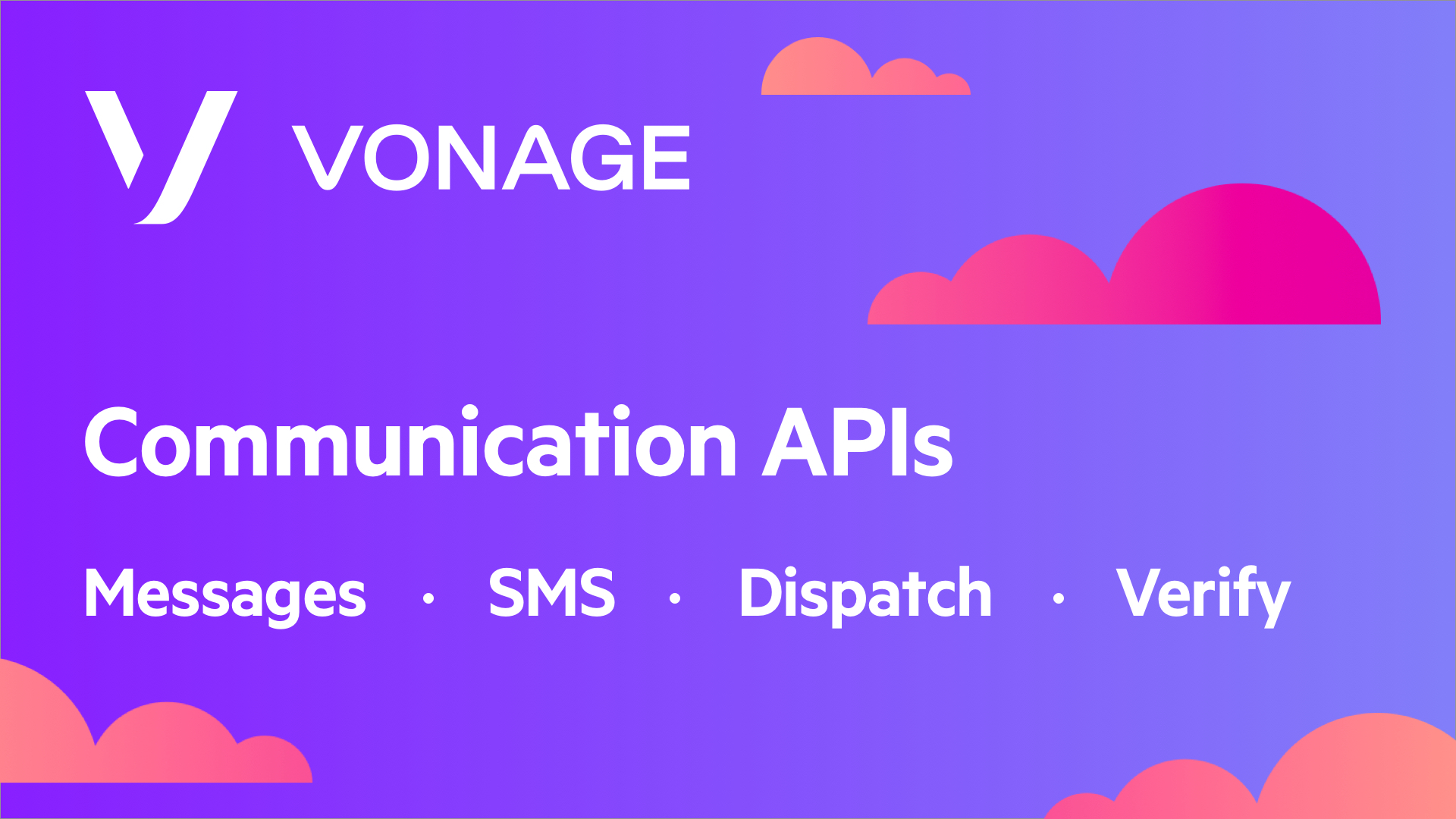 Blog header Vonage communication APIs